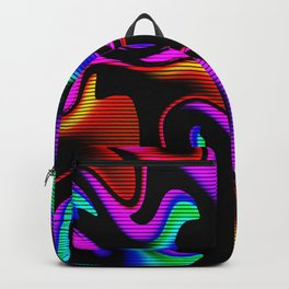 Psychedelic fluorescent graffiti Backpack