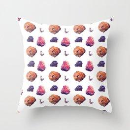 Ocean Coral Reef Pattern Throw Pillow