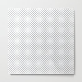 Glacier Gray Polka Dots Metal Print