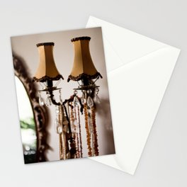 Decorative retro night lamp Stationery Cards