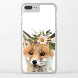 Fox Print Clear iPhone Case