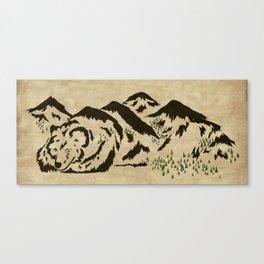 Sleepy Bear Mountain Canvas Print