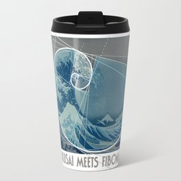 Hokusai Meets Fibonacci, Golden Ratio #2 Travel Mug