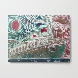 Colourful RMS Queen Mary  Metal Print