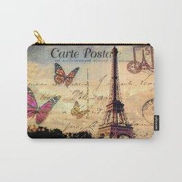 Vintage Paris-Carte Postale Carry-All Pouch