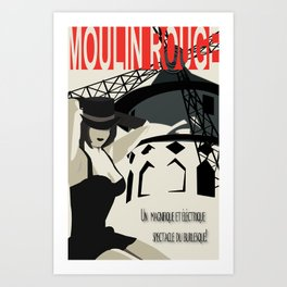 Spectacle Du Burlesque! Art Print