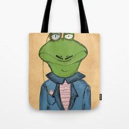 Sophisticated Frog Print Tote Bag