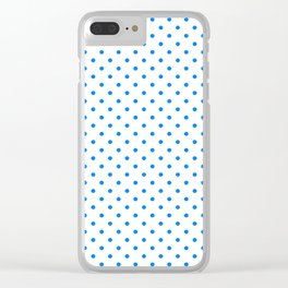 Dots (Azure/White) Clear iPhone Case