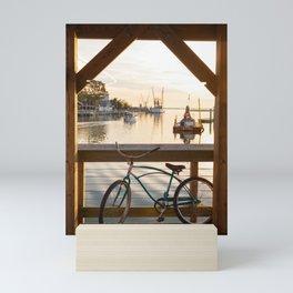 Shem Creek Bike Mini Art Print