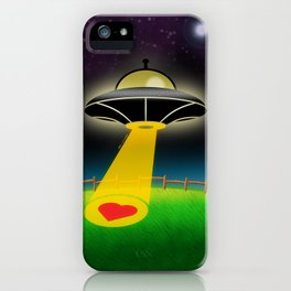 Love Abduction iPhone Case
