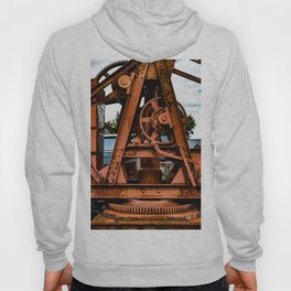 The Old Rusty Ship Crane Hoody