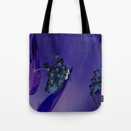 Blooming at Night (violet) Tote Bag