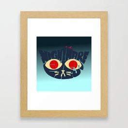 Mae - Nightmare eyes Framed Art Print