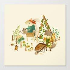 Critters: Summer Gardening Canvas Print