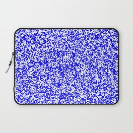 Tiny Spots - White and Blue Laptop Sleeve