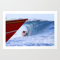 Jordy Smith Billabong Pro Tahiti 2014 Art Print