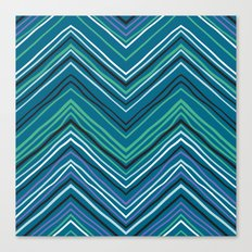 Chevron pattern with thin zigzag lines Canvas Print