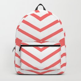 Red lines. Geometric design Backpack