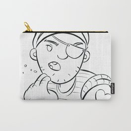 Stowaway Pirate - ink Carry-All Pouch