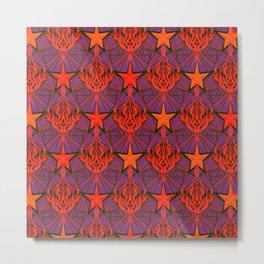 Starfire Kaleidoscope (Ruby Rocket Red) Metal Print