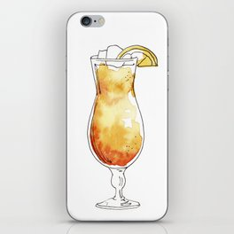 Watercolor hand-painted cocktail illustration iPhone Skin