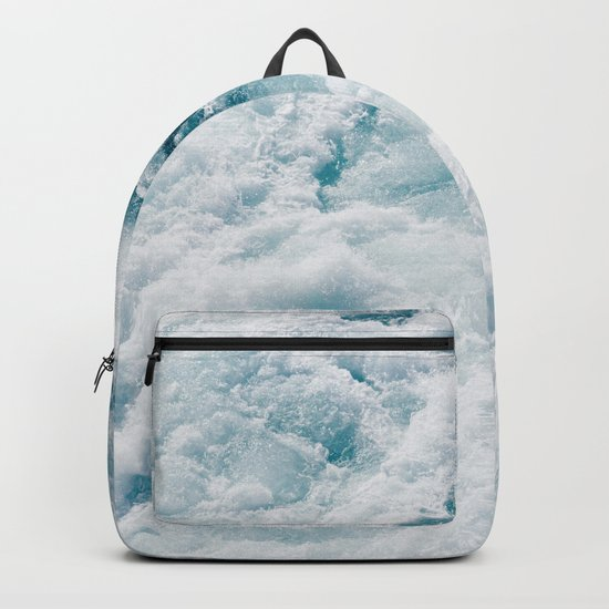 sea - midnight blue storm Backpack