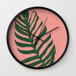 Philodendron Wall Clock