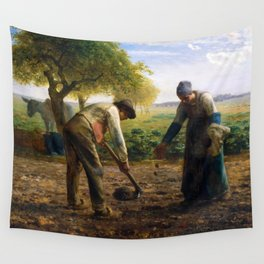 Potato Planters by Jean-François Millet (1861) Wall Tapestry