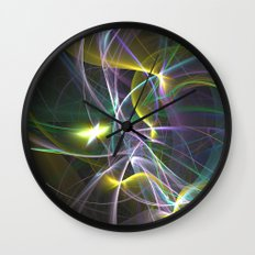 The Curves of Symbiotic Frequencies Traveling To Their Respective Destinations Only Compressed Wall Clock