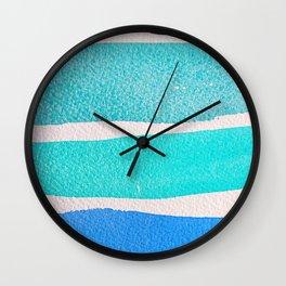 Bright Blue Sea Ribbons Wall Clock