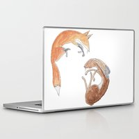 hare Laptop & iPad Skins featuring hare by andsewon