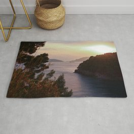 Sunset on the Gulf of Poets Rug