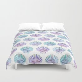 iridescent shells pattern Duvet Cover