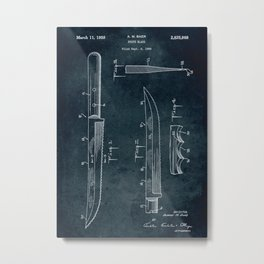 1956 - Knife blade patent art Metal Print