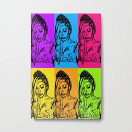 Princess High Die POP ART COLORS VERSION Metal Print
