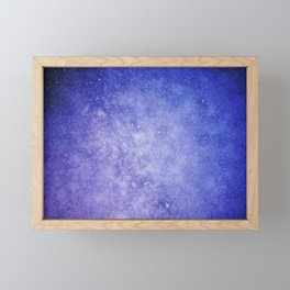 Purple Galaxy Framed Mini Art Print