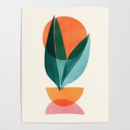 Nature Stack II / Abstract Shapes Illustration Poster