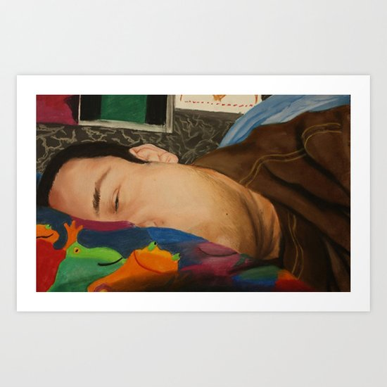 Morning Portrait (Self Portrait) Art Print