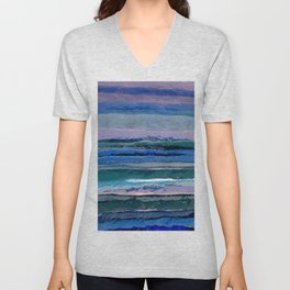 Abstract Composition 628 Unisex V-Neck