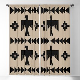 Southwestern Eagle and Arrow Pattern 125 Blackout Curtain