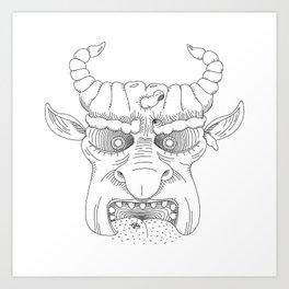 Dickfacetor Art Print