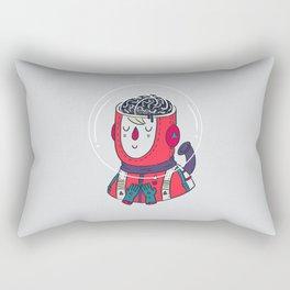 Space On The Brain Rectangular Pillow