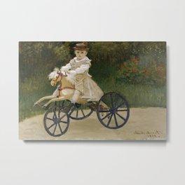 Monet, Jean Monet on his Hobby Horse, 1872 Metal Print