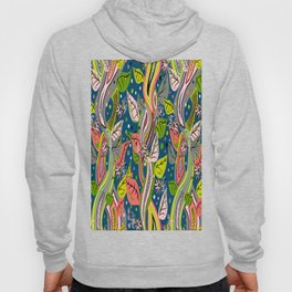 Colorful quirky vines with flowers fantasy Hoody