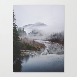 Fog Mountain Canvas Print