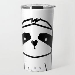 Geometric Sloth, nursery art, sloth black and white, modern art, kids poster, scandinavian sloth Travel Mug