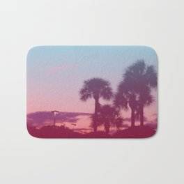 Palm Tree Sunset Bath Mat