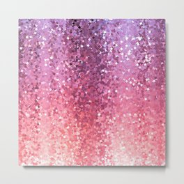Squarely in the Realm of Glitter Abstract Metal Print