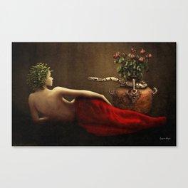 Dark Classical Medusa Canvas Print