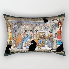 The Carol singers in old Amsterdam Rectangular Pillow
